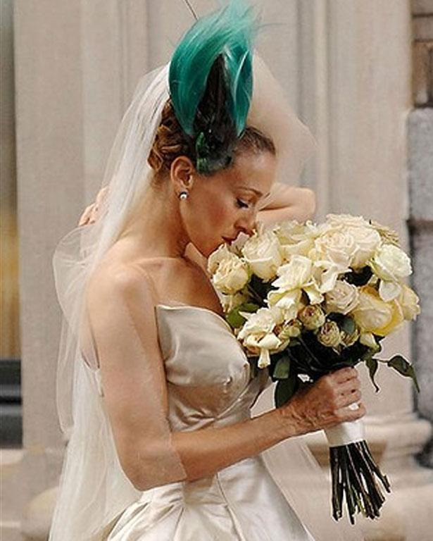 Look, it's not for everyone, and truth be told Carrie Bradshaw' wedding wasn't exactly fairytale. But putting a bird on your head is a dramatic statement.