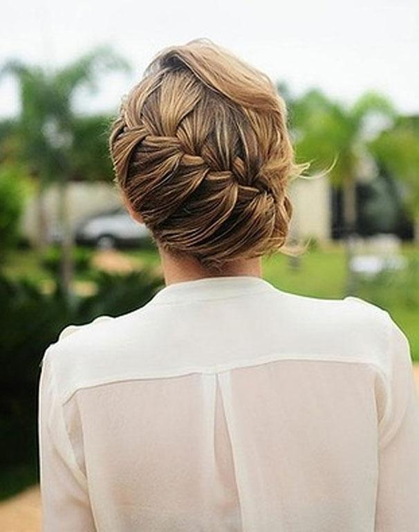A side-swept braid can be an elegant look for your big day.