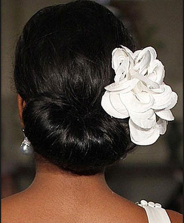 That same bridal hair from the back.