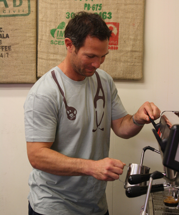 Coffee 101: Leon MacDonald practices his coffee making skills at the CPR Coffee Expo in Blenheim at the weekend