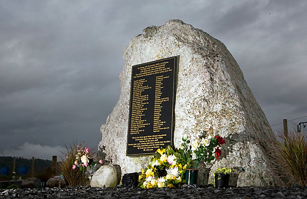 NOT FORGOTTEN: The Pike River memorial garden at Atarau is a poignant tribute to the lost men.