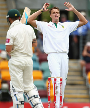 TOUGH TEST: Morne Morkel is expecting another tough bowling assignment in Adelaide but says the extra overs in Brisbane have helped the South Africans.