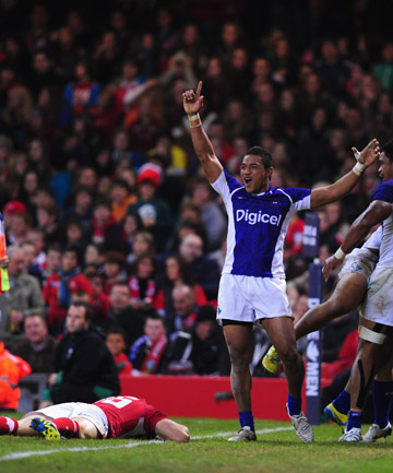 MOVING UP: With their win over Wales, Samoa are now on the verge of moving into the top eight, while Wales could drop into the third tier.