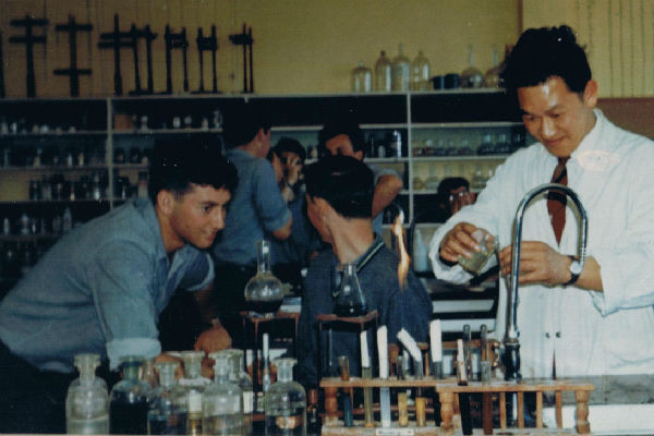 Starting ground:  Paul Wah teaching science at Taita College in the 1960s.