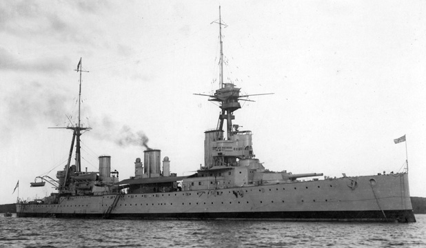 HMS New Zealand, the battle cruiser gifted to Britain by NZ in 1909.