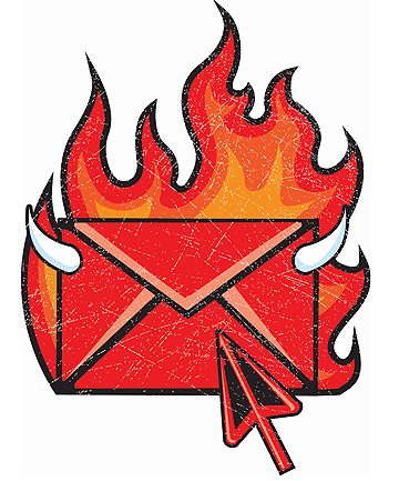 FEEL THE HEAT: Emails and texts can generate a powerful feeling of intimacy.