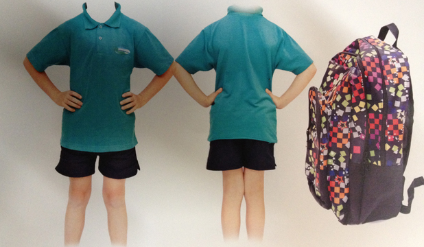 UNIFORM: Timaru police have released these images of the Oceanview School uniform a nine-year-old boy was wearing, and a bag he was carrying, when he was allegedly abducted.