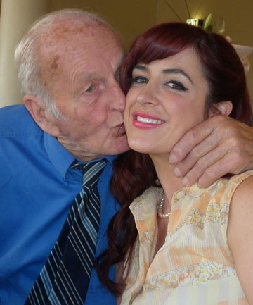 Hailee Forde and her late grandfather, Edgar Esler, before his death in July.