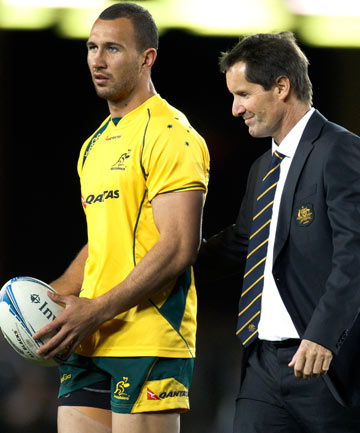 Quade Cooper and Robbie Deans