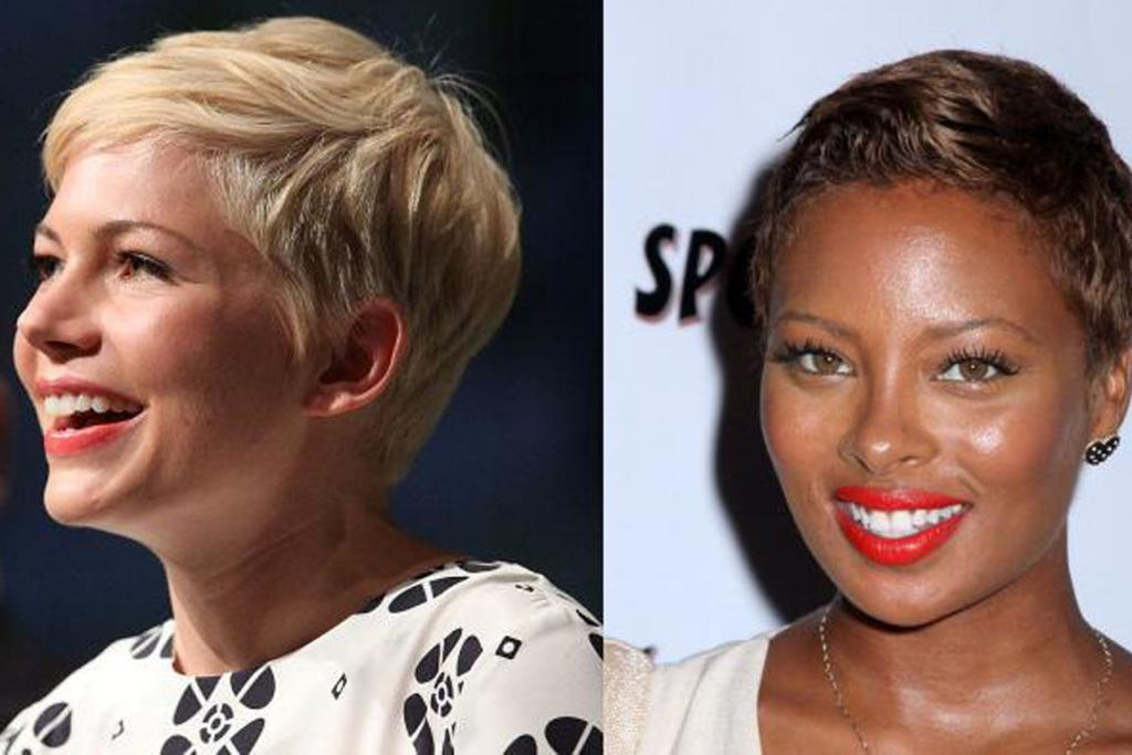 The pixie crop, as worn by Michelle Williams and Eva Marcille.