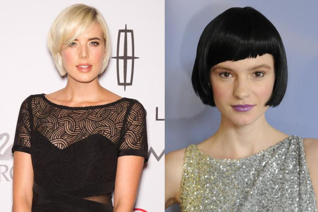 The assymetric bob, as worn by Agyness Deyn and a model at Cesar Galindo.