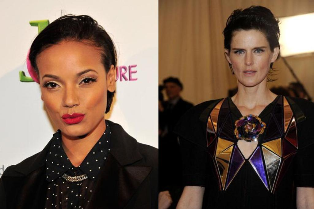 The slicked-back look, as worn by Selita Ebanks and Stella Tennant.