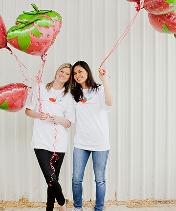 SWEET CHEFS: MasterChef winners Chelsea Winter and Nadia Lim will be handing out treats at the Mercy Hospice Strawberry Festival.