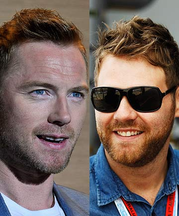 IRISH EYES SMILING: Ex-Boyzone star Ronan Keating, left, and ex-Westlife star Brian McFadden are teaming up for a show in West Auckland.