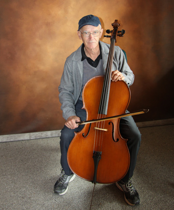 Classic: Alan Schroder plays his cello made by Charles Johnson of Hawera in the late 19th and early 20th centuries.