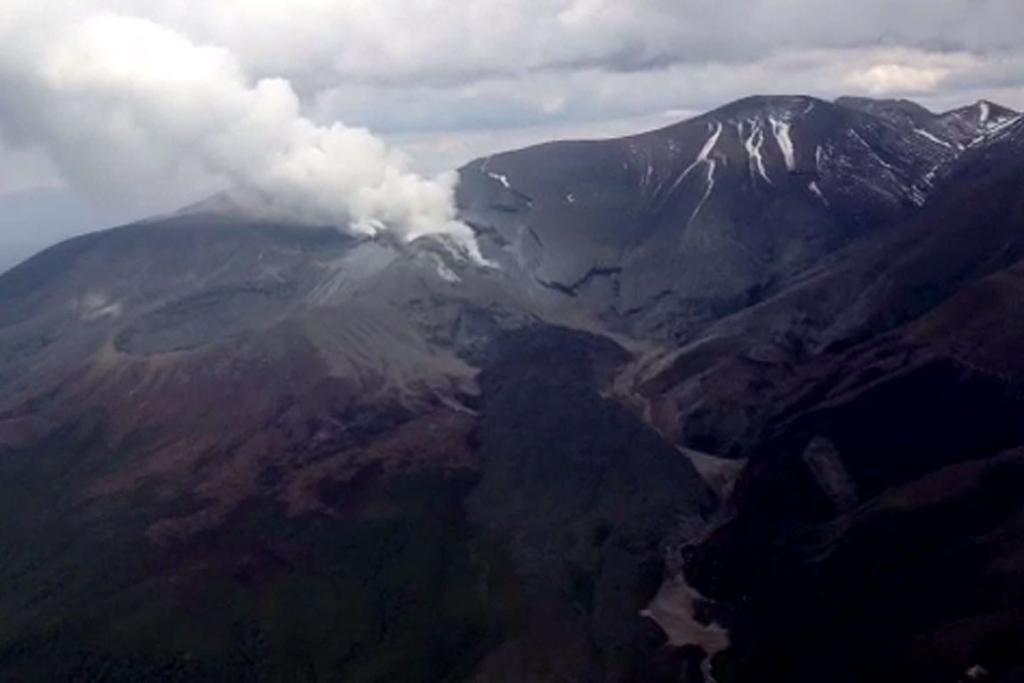 A still from a video above Tongariro.