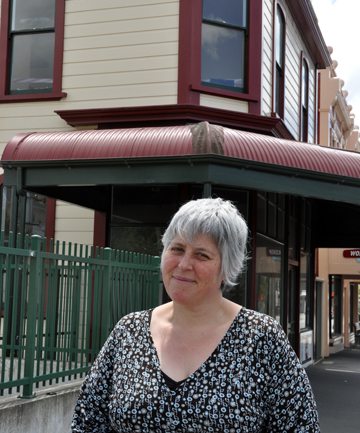 Concerned neighbour: Neave Fraser of the picture-framing business The Workshop in front of the old Bar Bodega.
