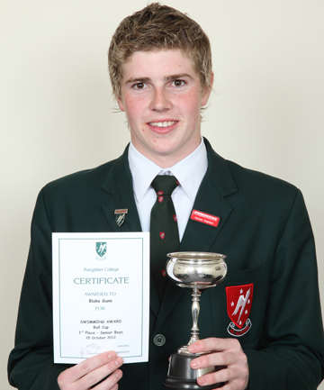 SPORTS CHAMPION: Rangitikei College's senior sports champion hopes to step up his swimming training next year.