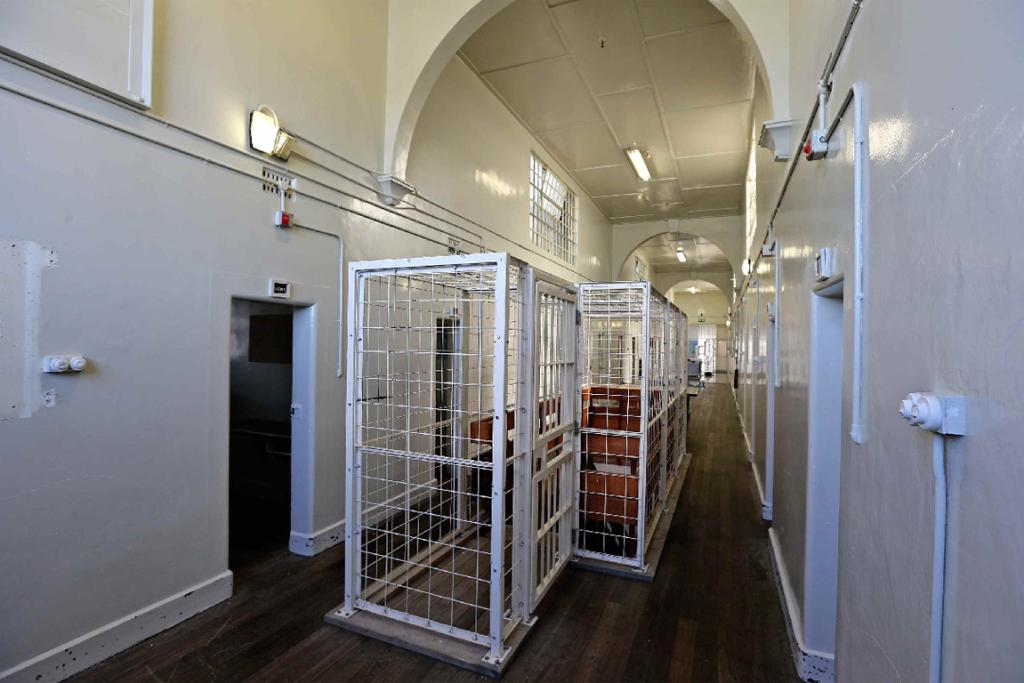 The hallway of the prison's Unit One, where high-risk prisoners were kept.