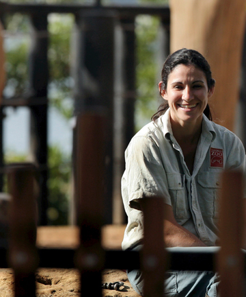 elephant keeper Lucy Melo.