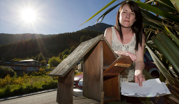 BETRAYED: Fernhill resident Becky Spiers has been chasing missing mail for at least two years, with the first problems arising in November 2010.