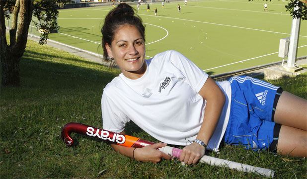 SURPRISED AND EMOTIONAL: Capital captain Aniwaka Roberts has just been named in the Black Sticks.