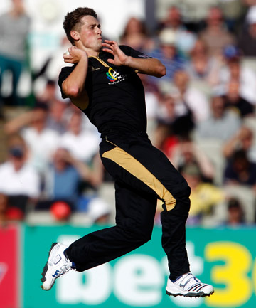 DOWN UNDER: Chris Woakes in action for English county Warwickshire.