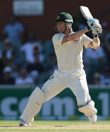BRADMAN-ESQUE: Michael Clarke on his way to his fourth score of more than 200 in 2012.