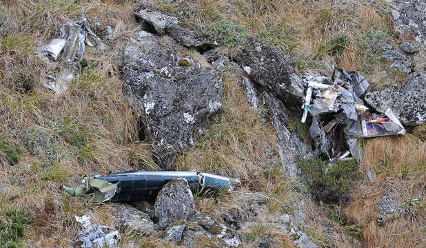 SHOCK DISCOVERY: Police have confirmed the wreckage found near the Humboldt Falls was that of a Hughes 500 helicopter that went missing in 2004.