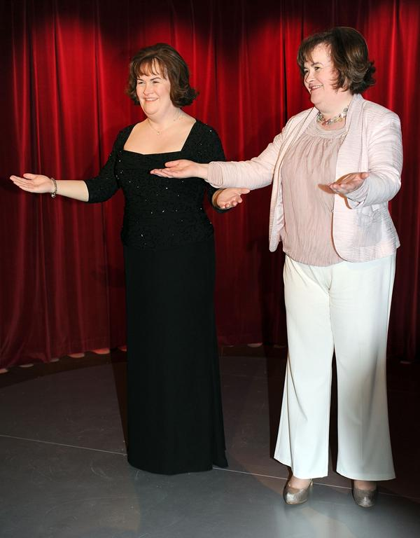 Spot the difference at the Madame Tussauds Wax Museum in Blackpool.