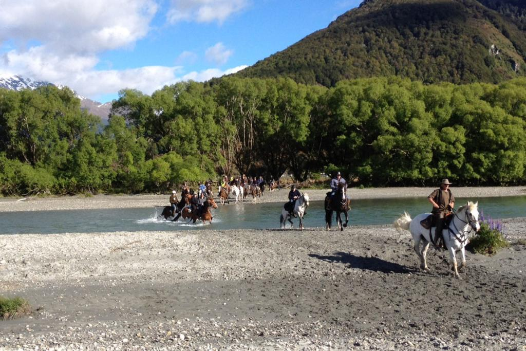 Glenorchy is hosting a three-day series of horse treks, which began this morning.