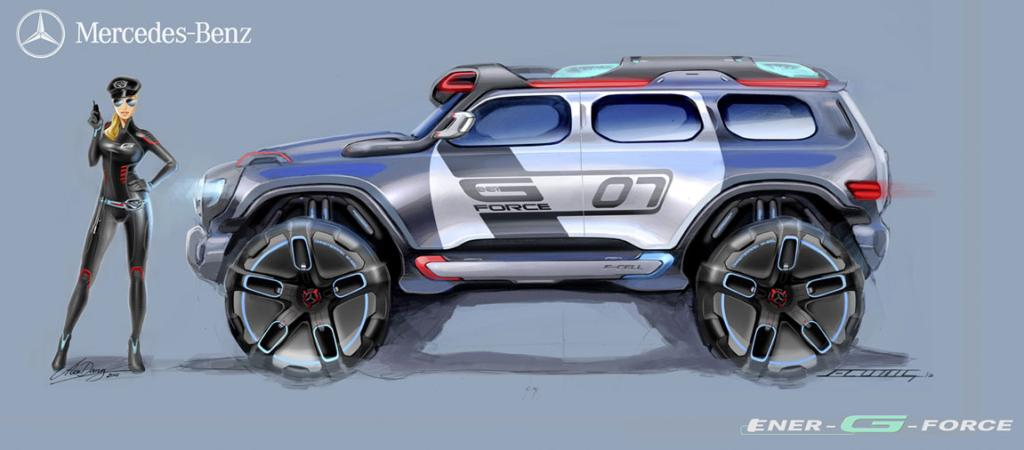 The Mercedes-Benz Ener-G-Force for the LA Design Challenge.