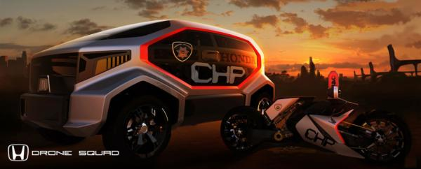 The Honda CHP Drone Squad for the LA Design Challenge.