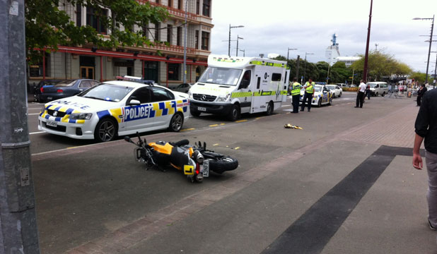 CRASH SCENE: The wreckage of the 650cc motorbike