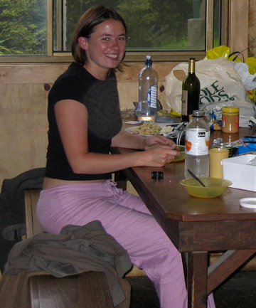 DISAPPEARED: This is thought to be the  last photograph  taken of Hannah Timings, the night before the helicopter she was travelling in with friend Campbell Montgomerie went missing in 2004.