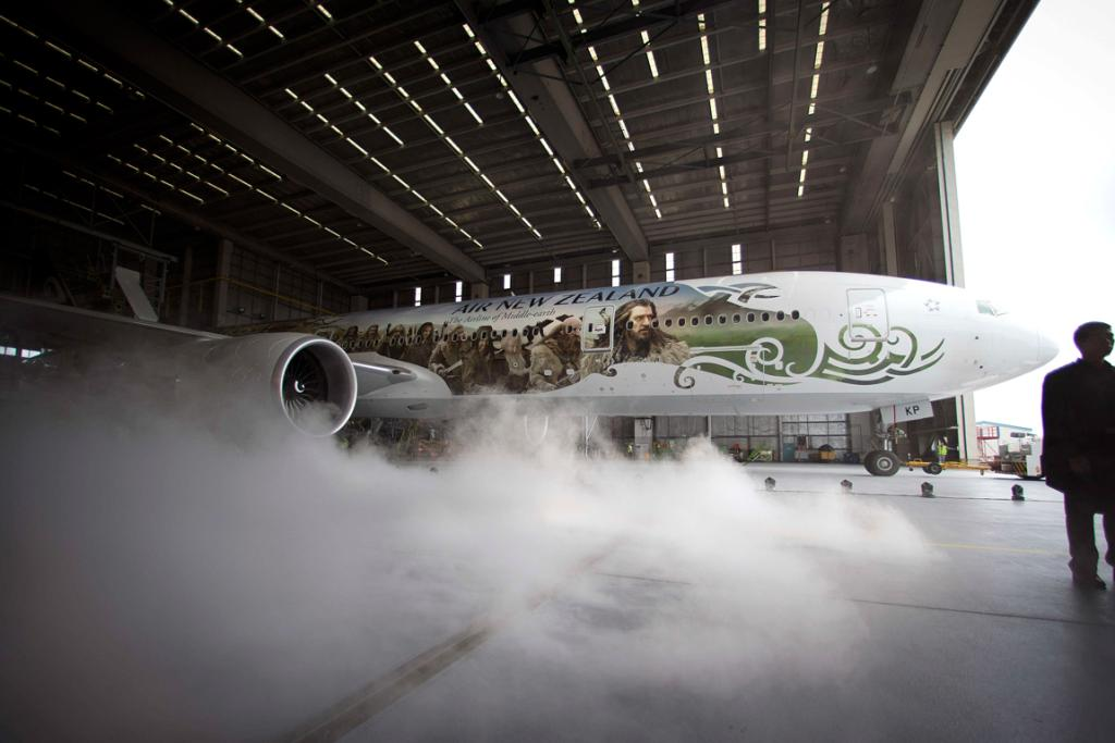 Air NZ's Hobbit plane