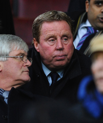 TAKING CHARGE: Harry Redknapp watches from the stands as QPR lose 3-1 to Manchester United.