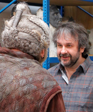 EYE TO EYE: Peter Jackson talks to Mark Hadlow, who plays Dori the dwarf in The Hobbit.