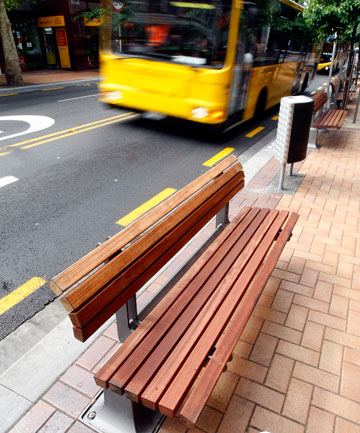 Six new seats have been installed as a more subtle stand-in for barriers to deter jaywalkers in Willis St.