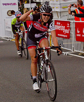 ECSTATIC: Rushlee Buchanan of Te Awamutu won the elite women's race.
