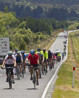 Thousands of riders from around the world converged on Taupo for the annual round-the-lake cycle challenge.