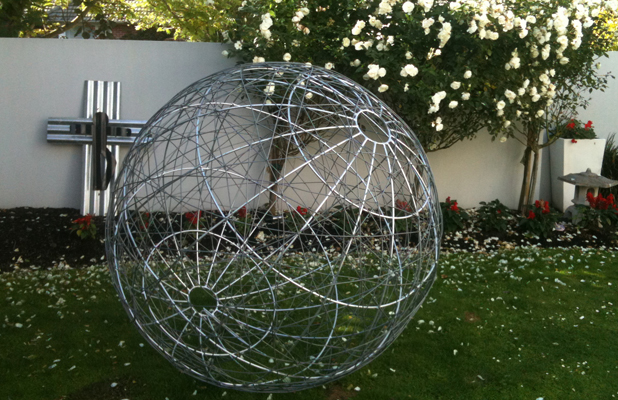 HARD TO SHIFT: Shirleyann Gray's giant wire artwork was stolen from her Riccarton home over the weekend.