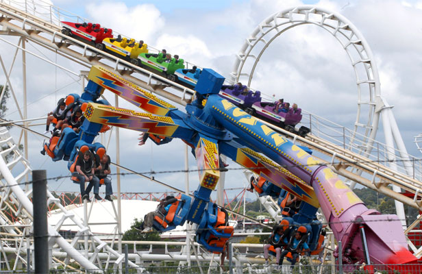 QUITE A RIDE: Rainbow's end attracted more visitors in the year to June than it has since 1994.