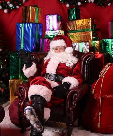 TOP TOYS: Santa is stockpiling Lego and radio control vehicles and has also found room in the sleigh for 1500 trampolines.
