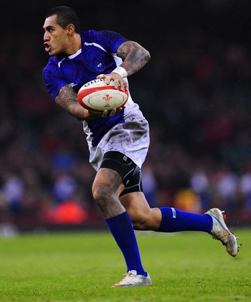 ON THE UP: Tusi Pisi in action for Samoa during their ranking-boosting win over Wales.