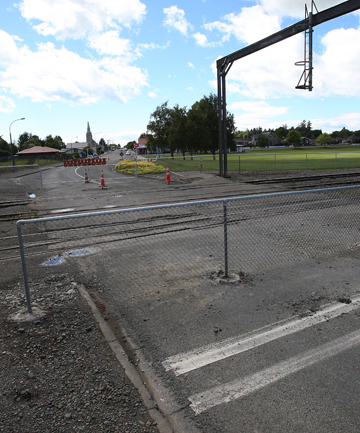 NO ACCESS: The vehicle crossing at Denmark St is now closed and the pedestrian crossing has been moved.
