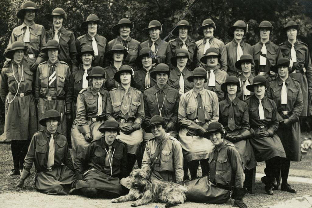 FUN WITH FRIENDS: Early girl guides and brownies of Timaru, believed to be in the 1920s.