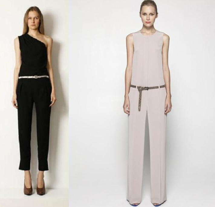 Jumpsuits from Turet Knuferman $285, and Helen Cherry, $685.
