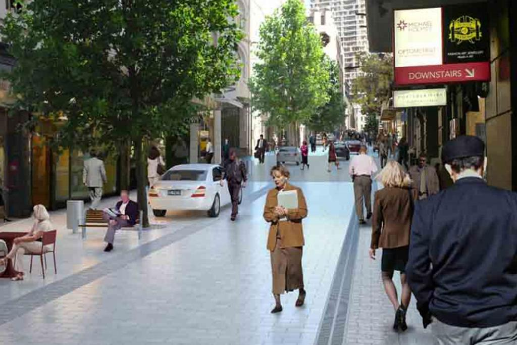 High St will become pedestrian friendly under plans to revamp the city's public spaces.