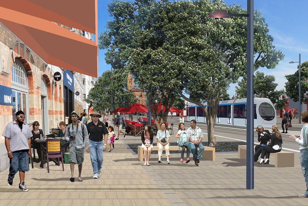 A light rail system is planned to run along Quay St to St Heliers.